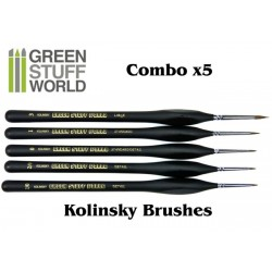 Brushes COMBOx5 Natural Kolinsky