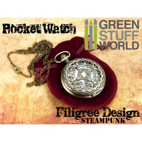SteamPunk Pocketwatch FILIGREE design