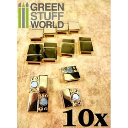 10x Magnetic Clasps SHINY GOLD