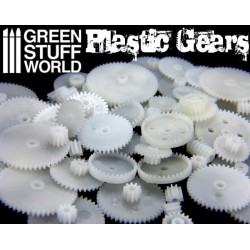 58x PLASTIC COGS and GEARS Steampunk