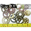 SteamPunk GEARS and COGS Beads 85gr XL size