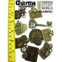 SteamPunk CHARMS with gears and cogs Beads 85gr