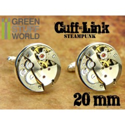 Steampunk CUFFLINKS - 20 mm Round Movements