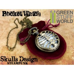 SteamPunk Pocketwatch SKULLS design