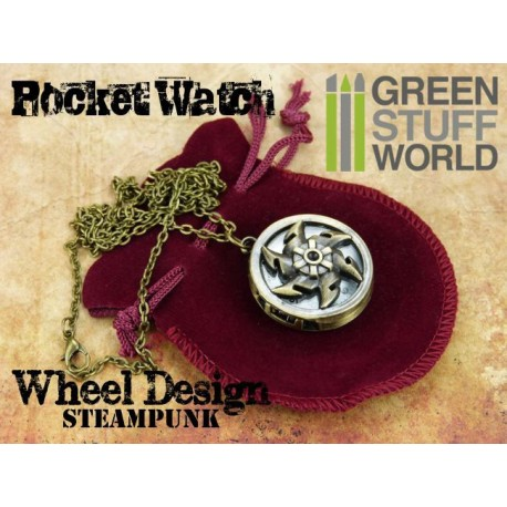 SteamPunk Pocketwatch Windmill WHEEL design