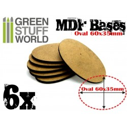 60x35mm AOS oval MDF Basen