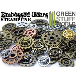 Embossed SteamPunk GEARS and COGS Beads 85gr