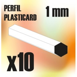 Perfil Plasticard BARRA Hexagonal 1mm