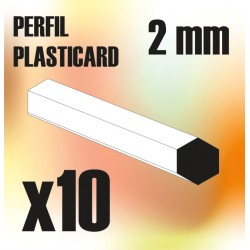 Perfil Plasticard BARRA Hexagonal 2mm