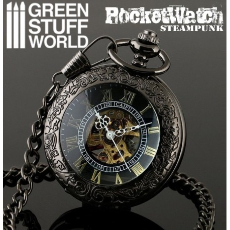 SteamPunk Pocketwatch - Skeleton Mechanical