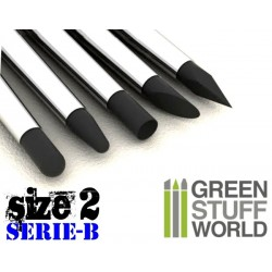 Colour Shapers Brushes SIZE 2 - BLACK FIRM - SERIE-B