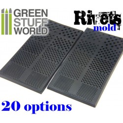 2x RIVETS Texture rubber MOLDS