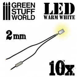 Luces LED BLANCO calido - 2mm