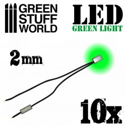 Luces LED VERDES - 2mm
