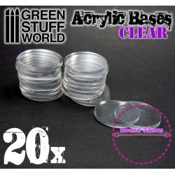 32 mm runde Acryl Basen Transparent