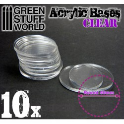 40 mm runde Acryl Basen Transparent