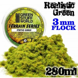 Static Grass Flock - Realistic Green - 280 ml - XL