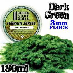 Static Grass Flock - Dark Green - 180 ml - L