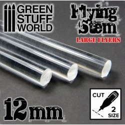 Acrylic Rods - Round 12 mm CLEAR