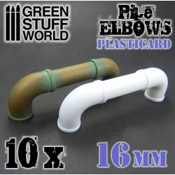 Plasticard Pipe ELBOWS 16mm