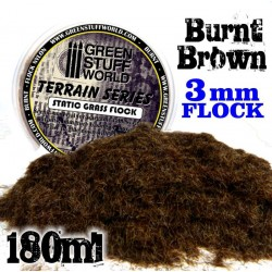 Static Grass Flock 3 mm - BURNT Brown - 180 ml
