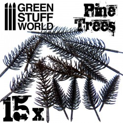 15x Model PINE Tree Trunks