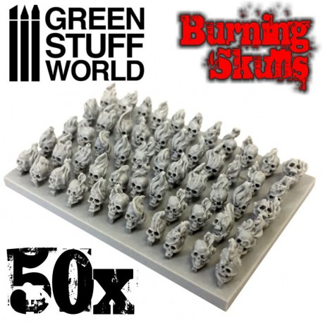 50x Burning Resin Skulls