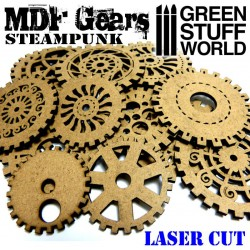 MDF Wood Steampunk Gears