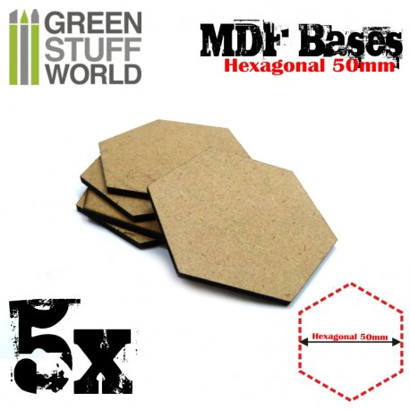 MDF Bases - Hexagonal 50 mm