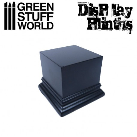 Square Top Display Plinth 6x6 cm - Black