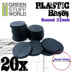 Plastic Bases - Round 32mm BLACK