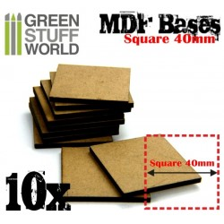 MDF Bases - Square 40mm