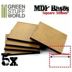 MDF Bases - Square 50mm