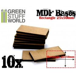 Socles RECTANGULAIRES 25x50mm en MDF