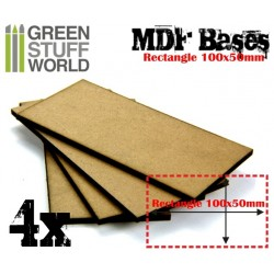 Socles RECTANGULAIRES 100x50mm en MDF