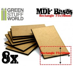MDF Bases - Rectangle 75x50mm