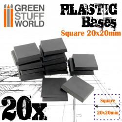 Plastic Square Bases 20x20 mm