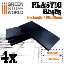 Plastic Bases - Rectangle 100x50mm