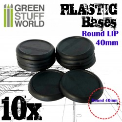 Plastic Bases - Round Lip 40mm