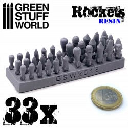 33x Resin Rockets and Missiles