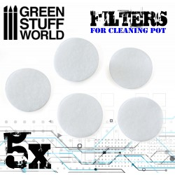 Airbrush Cleaning Pot Filters