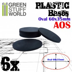 Plastic Bases - Oval Pill 60x35mm BLACK