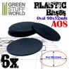 Plastic Bases - Oval Pill 90x52mm BLACK