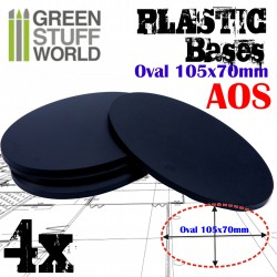 Plastic Bases - Oval Pill 105x70mm AOS
