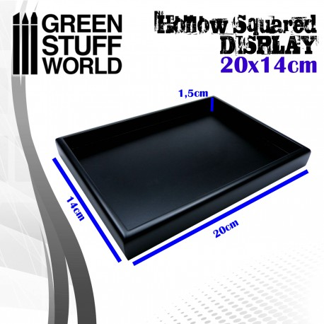 Hollow squared display 20x14 cm Black