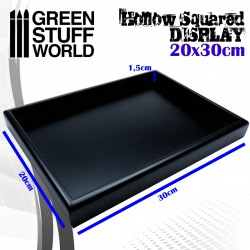 Hollow squared display 20x30 cm Black