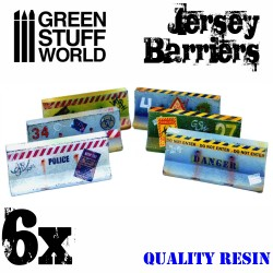 6x Jersey Barriers