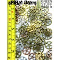 SteamPunk SPIRAL GEARS and COGS Beads 85gr