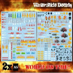 Waterslide Decals - World on Fire