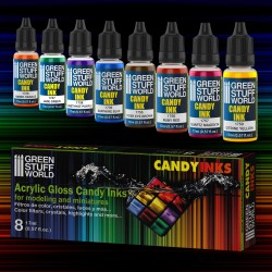 Set x8 Acrylic Candy Ink Paints